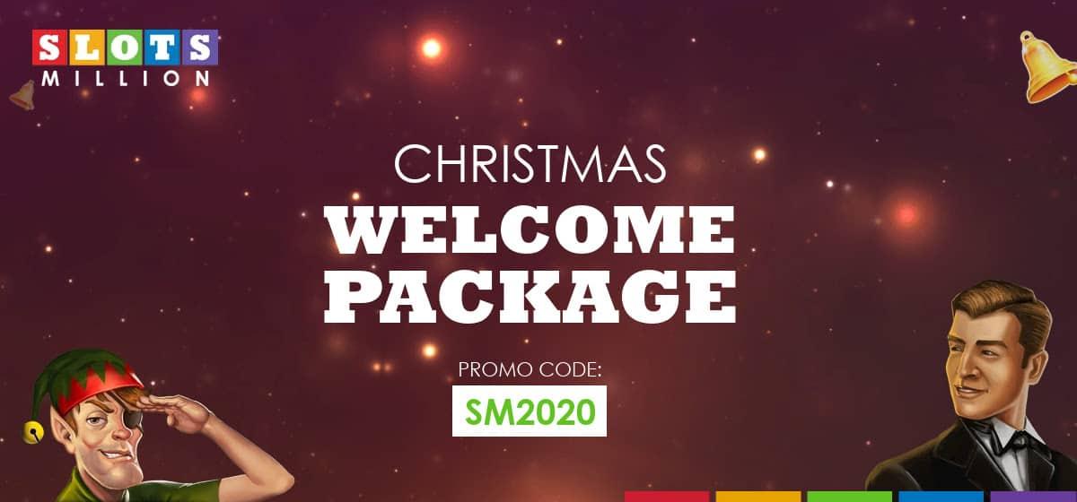 Christmas welcome bonus at Slotsmillion Casino