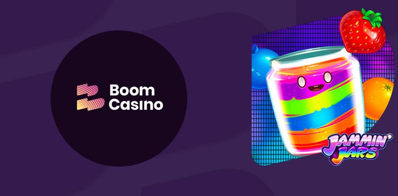 Deposit $/€50 at Boom Casino and get 2 bonus rounds for Jammin 'Jars