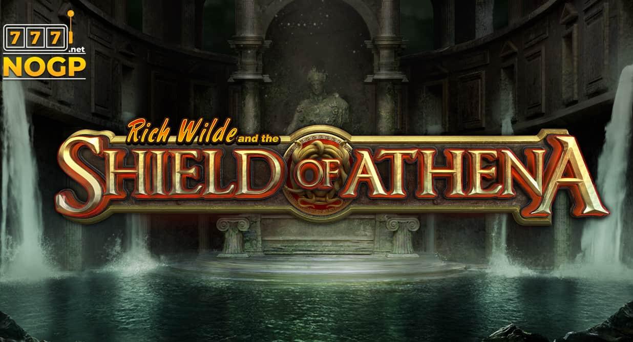 Shield of Athena video slot logo