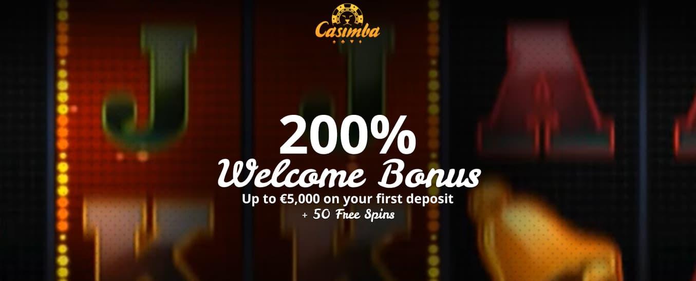 A 200% bonus awaits you at Casimba Casino.
