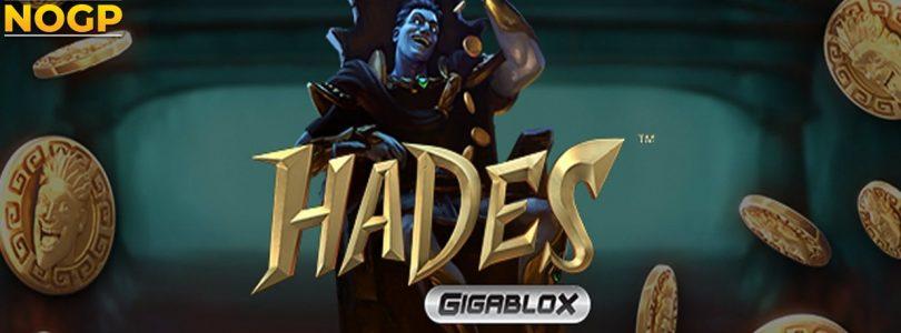 Hades Gigablox video slot logo