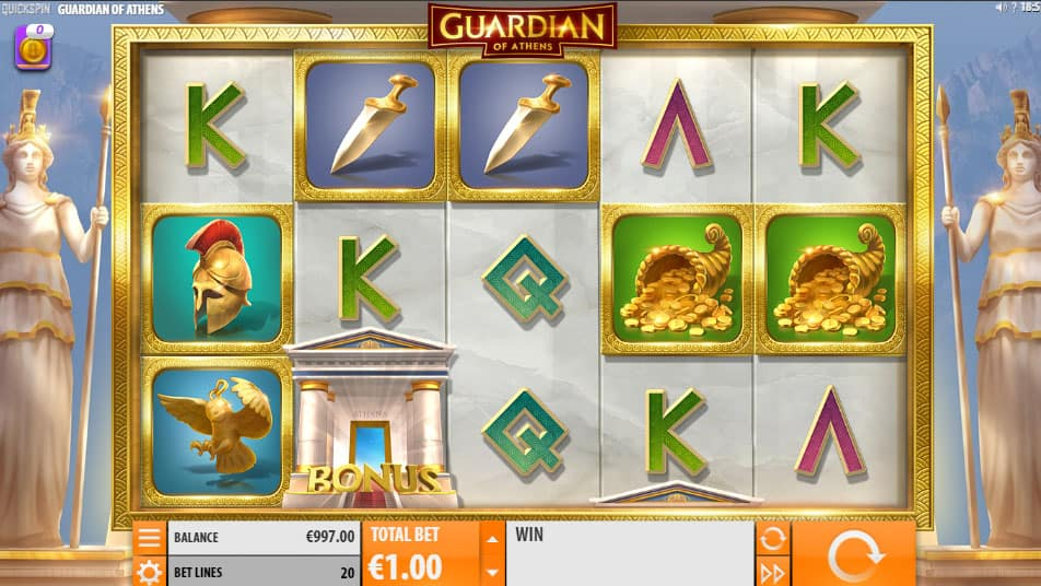 Guardian of Athens video slot screenshot