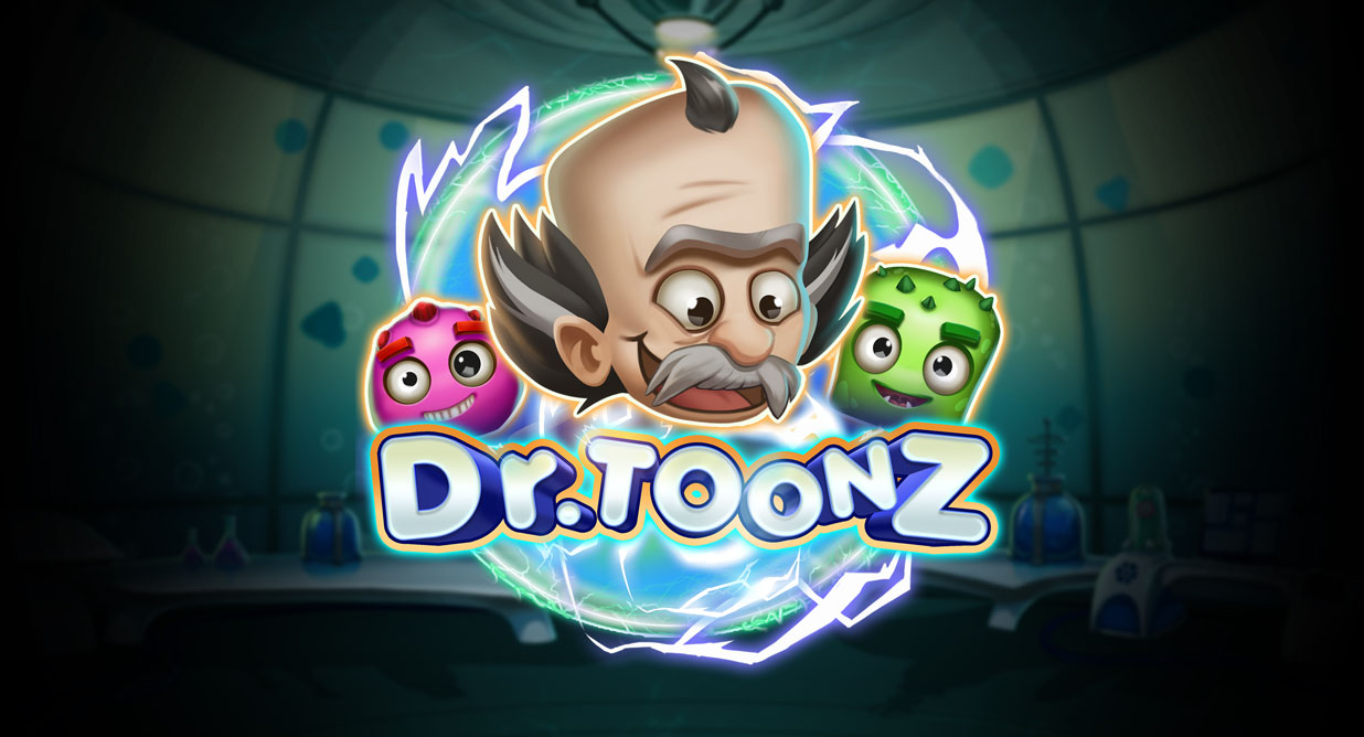 Dr Toons video slot logo